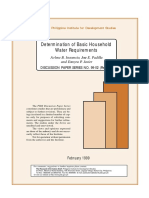 Determination of Basic Household Water Requirements