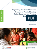 Expanding the Role of Evidence in Decisionmaking