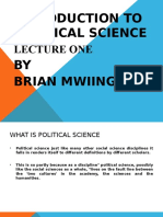 Introduction to political Science Lecture one.ppt