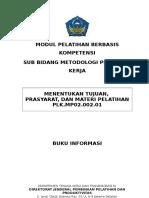 1. MODUL Menentukan Tujuan, Prasyarat, Dan Materi Pelatihan