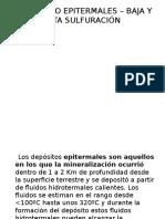 Yacimiento Epitermales – Baja y Alta Sulfuración