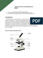 Practical 1 Microscope