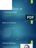 Computer Generations W/ Examples PPT