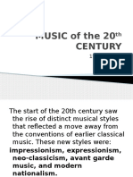 Music of the 20th Century