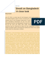 Impact of Brexit on Bangladesh Economy