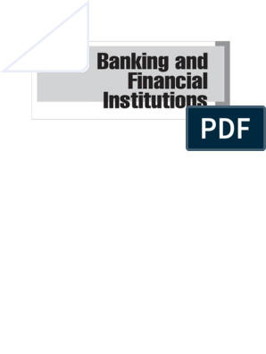 BOOK BENTON E GUP Banking and Financial Institutions