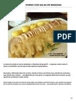 -lomo de Cerdo Al Horno Con Salsa de Manzana