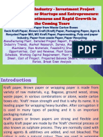 Kraft Paper Industry - Investment Project Opportunity for Startups and Entrepreneurs