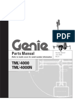 Genie Model TML-4000 / TML-4000N, Parts Manual