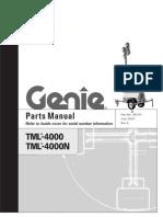 Genie Model TML-4000 / TML-4000N, Parts Manual