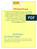 FIN 370 Final Exam &  FIN 370 week 5 final exam - Studentwhiz