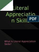 Literal Appreciation Skills