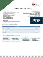 Apexindo Pratama Duta PT, Tbk (APEX)