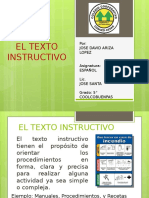 El Texto Instructivo-Jose David Ariza