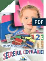 Maria Montessori Secretul Copilariei A5
