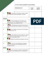 Calendario Cívico Para Izamiento de Bandera