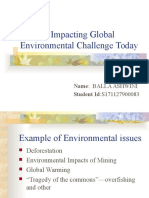 Highest Impacting Global Environment Challenge Today