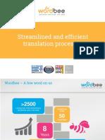 Wordbee - Streamlined Translation Processes