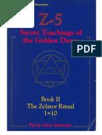Z5 Book 2 the Zealtor Ritual 1=10 Golden Dawn by Zalewski(KnowledgeBorn Library)