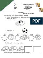 Evaluación II Trimestre Matemática Stnj