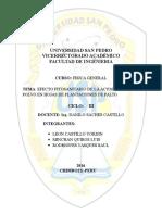 Efecto Fitosanitario de l Acumulacion de Polvo en Hojas de Plantaciones de Palto.