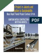 Morota Subway Jakarta and Sustainability