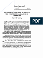 The Dormant Commerce Clause and the Constitutional Balance of Fed (1)