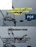 Verbal and Written Communication Skills