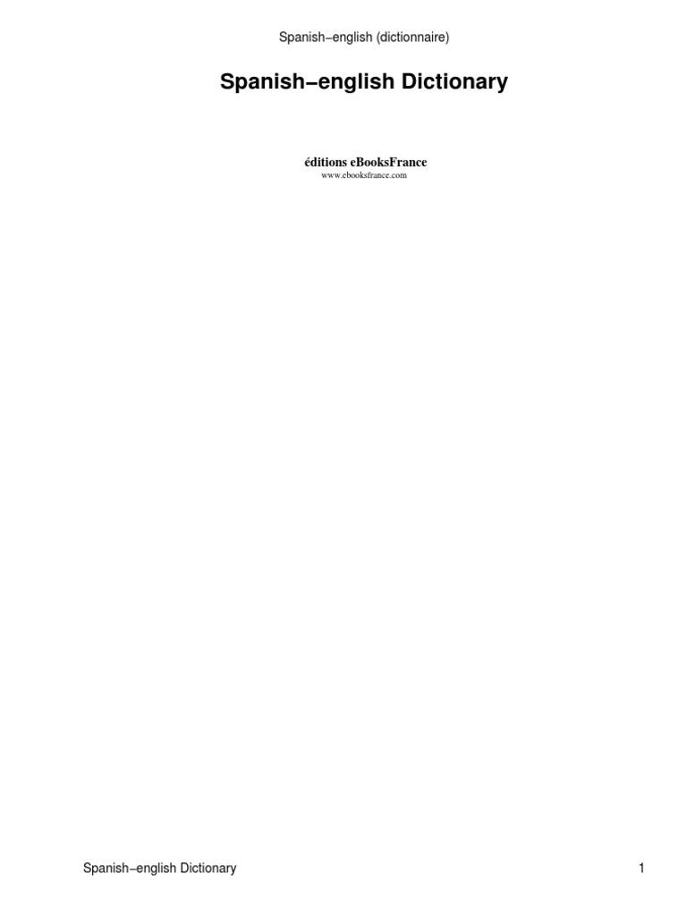 Diccionario Ingles Espanol