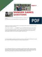 Hunger Games Probability Worksheet