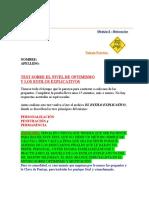 10. TEST SOBRE EL NIVEL DE OPTIMISMO PERSONAL.doc