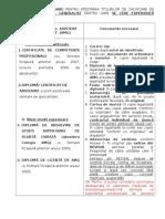 Titluri de Calificare de Asistent Medical Generalist Pentru Care SE CERE Experienta Profesionala1
