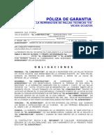Anexo 10 y 11 Poliza de Garantia