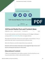 120 Social Media Post and Content Ideas