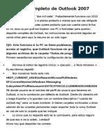 Respaldo Completo de Outlook 2007