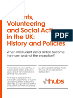 Student Volunteering, History and Policies