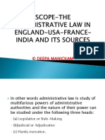 3 the Administrative Law in England-usa-france-India and Its Sources PDF