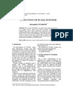 Evolutions of Scada System