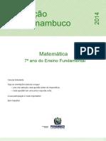 Avaliação Diagnostica 2014 - MAT - 7EF (1)