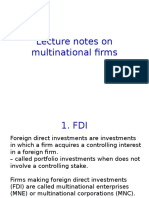 Lecture Notes on Multinational Firms