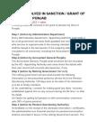 Steps Involved in Sanction