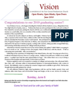 Vision FUPC June Newsletter
