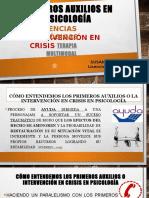Intervención en CRISIS -Primeros auxilios en Psicología