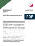 2016-09-26 BdWi an Außenminister Steinmeier zur Tuerkei