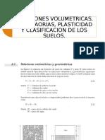 Relaciones Volumetricas, Gravitaorias, Plasticidad y Clasificacion