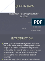 judiciary file Management system in java