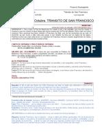 Libreto para poder realizar el Transito de San Francisco