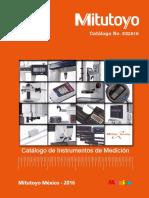 Catálogo 2016 Mitutoyo