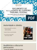 Argumento de Autoridade no STF