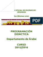 Programación Árabe 2015 16